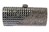 Pequeñas Bolsas para Las Bodas de Plata de Lujo Con Cuentas Madre de La Novia Del Embrague Bolsas de Descuento Al Por Mayor Negro Crystal Embrague de la Tarde del REINO UNIDO