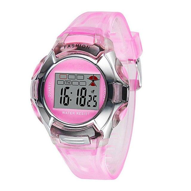 Fashion Watches PVC Band Girls Boys Student Electronic Watch kids Wrist Watch LL