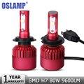 Oslamp H7 80W SMD CREE Chips LED Car Headlight Bulb Kits 9600LM 6500K Auto Front Led Headlamp h7 Fog Light Bulbs DC12v 24v