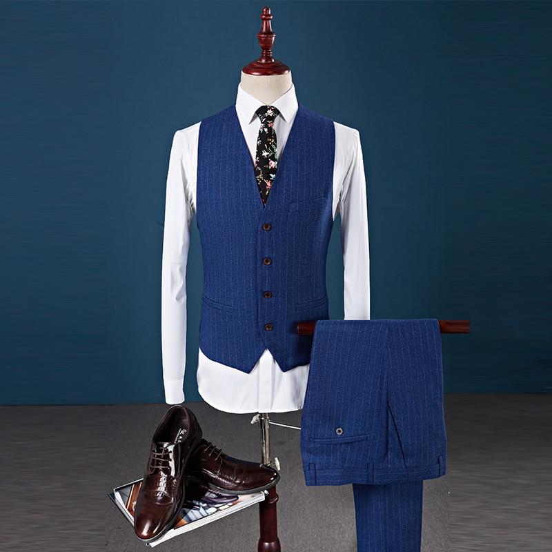 Pantalon Hommes 2019 marine Slim S Blazers veste Fit Luxe Gilet Costumes Formelle De Mariage Bleu Kolmakov Mâle Costume D'affaires Bleu 5xl 5YnFAqw