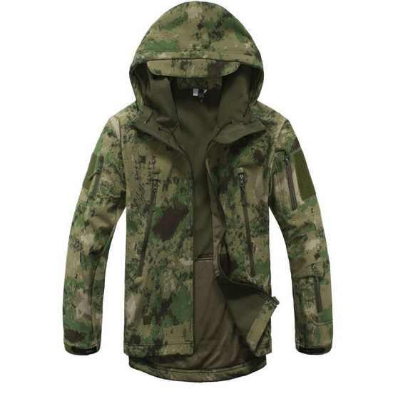 ルルカーシャークスキンソフトシェルv4屋外軍事戦術ジャケット男性防水防風コートハント迷彩軍服