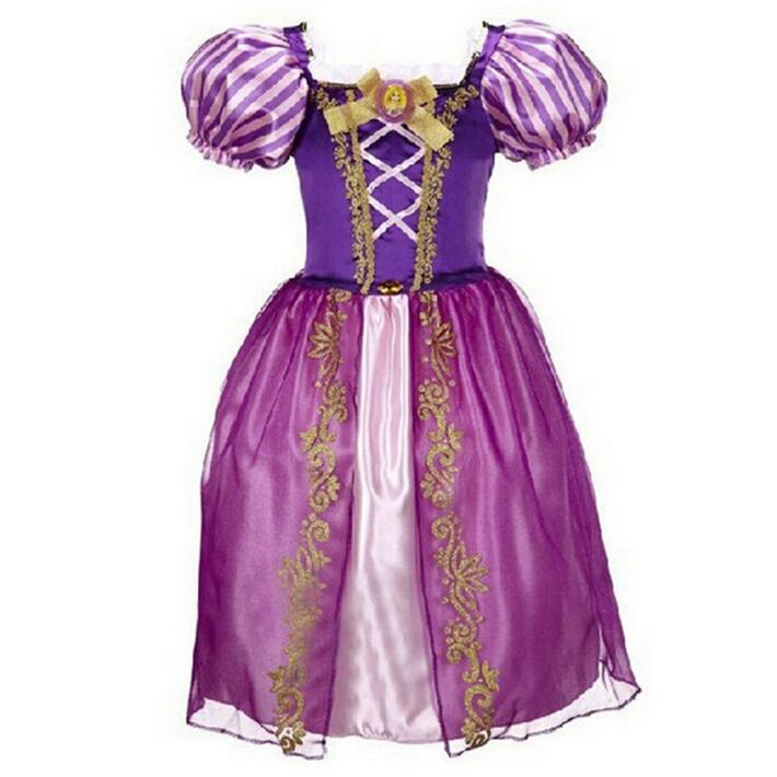 Age 2-10 Years Princess Cinderella Girls Dress Snow White Kids Clothing Dress Rapunzel Aurora Children Cosplay Costume Clothes 2017 rapunzel cosplay dress children girls long hair princess dress halloween costume clothes kids clothing with sleeves garland
