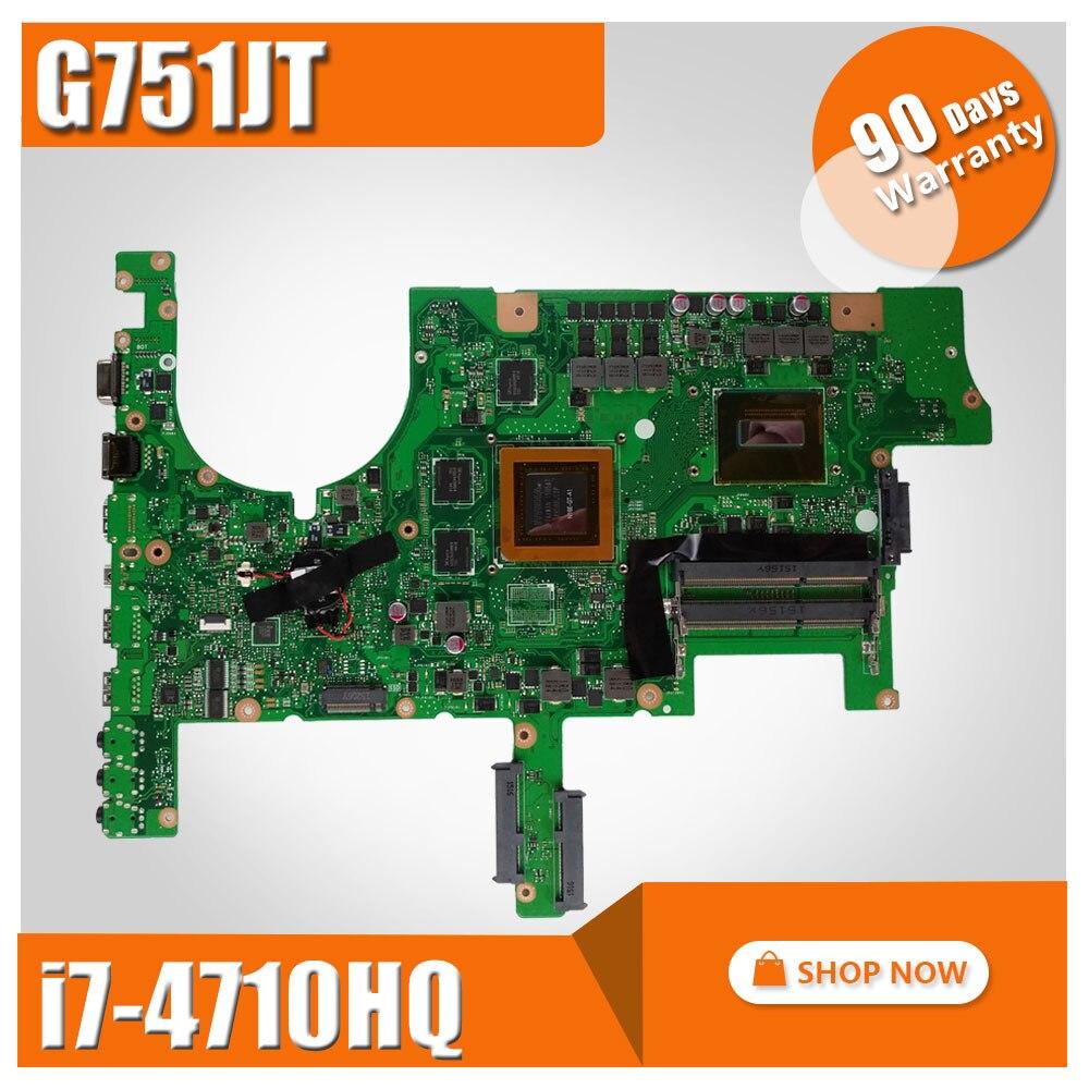 G751JT motherboard GeForce GTX 970M 3GB i7-4710HQ cpu for asus ROG G751 G751J G751JY G751JT G751JM G751JS notebook mainboard new original for asus g751 g751j g751m g751jt g751jl g751jm cpu and gpu cooling fan l r