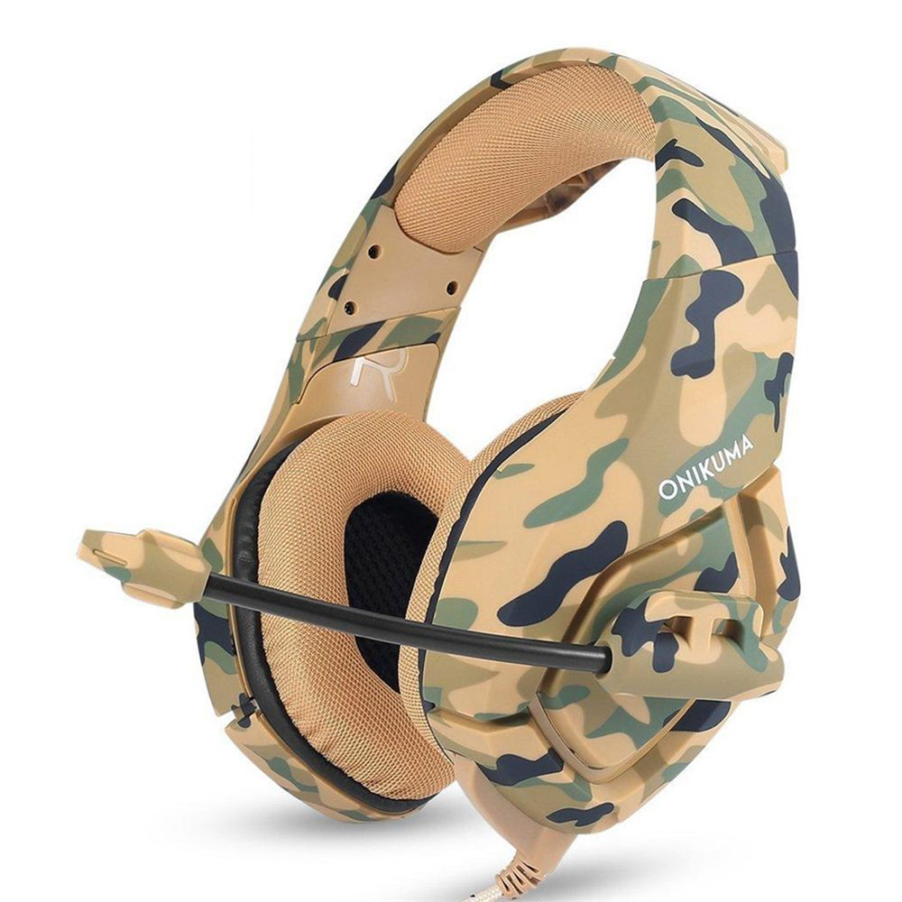 K1 Camouflage Headset Bass Gaming Headphones Game Earphones Casque with Mic for PC Mobile Phone New Xbox One Tablet PS