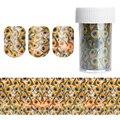 1 Roll Shimmer Звездное Ногтей Фольга Голографическая Передача Стикер Змеиная кожа Полосы Перьев Павлина Маникюр 4*100 см