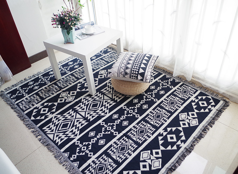 Bohemian Sofa Throw Blanket Boho Knit Chair Sofa Cover Towel Geometric  Carpet Soft Cotton Travel Plaids Cover Bedding Tapestry-in Throw from Home    Garden ... 32c35720d