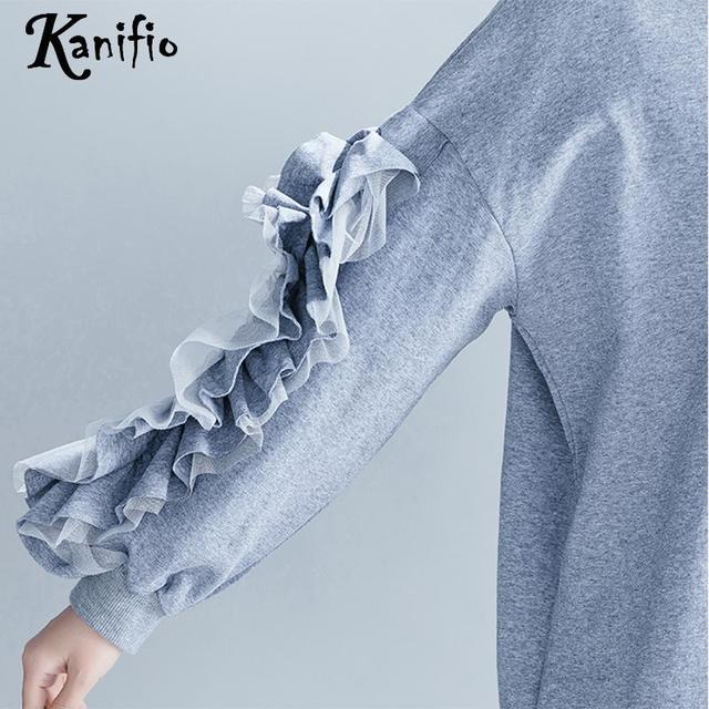 b2d16de4219 Kanifio Brand Clothing Plus Size Women Ruffle Dress Ladies Causual Loose  Dresses Female Long Shirt Tunics