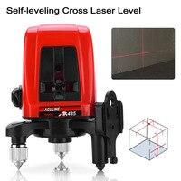 AK435 360 Degree Rotating Red Beam Self Leveling Cross Laser Line + Lightspot Laser Leveler