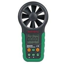 Многофункциональный MASTECH MS6252B Цифровой Анемометр Скорость Ветра Метр Воздуха Температура Влажность Тестер С Интерфейсом USB