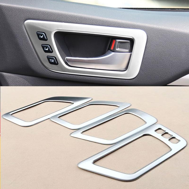 ABS Matte For Toyota Highlander Kluger 2014 2018 Interior Door Handle Bowl Cover Trim Molding Frame High configuration 4pcs