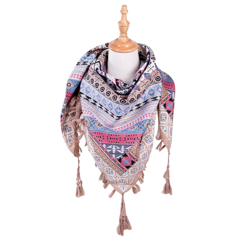 Women's Ethnic Style Tassel Scarf 3