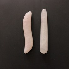 Natural Crystal Rose Quartz massage wand Relaxing Stone Body acupoint point stick reiki healing stone face massage