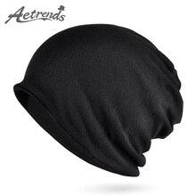 [AETRENDS] Мульти Стиль хип-хоп шапочки Skullies воротник шарф с бархатом зимние шапки для женщин и мужчин Z-5005