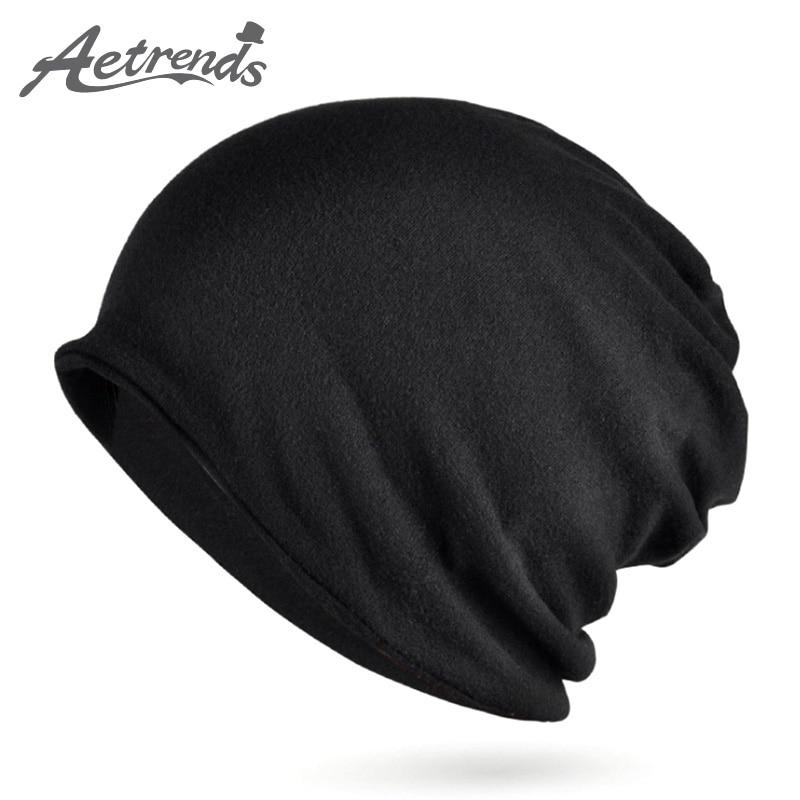 [AETRENDS] Multi estilo Hip Hop gorros Skullies cuello bufanda con terciopelo sombreros de invierno para mujeres y hombres Z-5005
