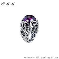 Ring Regal Dazzling Beauty 100% 925 Sterling Silver Jewelry Purple Stone Rings for Women Gift Wedding Ring PFR182