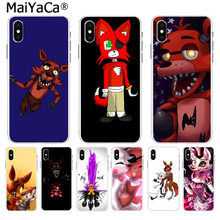 MaiYaCa Cute Foxy Five nights at freddy Diy Luxury High-end Protector phone for iPhone 8 7 6 6S Plus X 55S SE XS XR XS MAX case(China)
