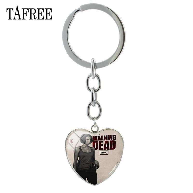 TAFREE The Walking Dead брелок с героями стекляный с картинкой художественное оформление брелок с кабошоном держатель ключ кулон для друга подарок QF182