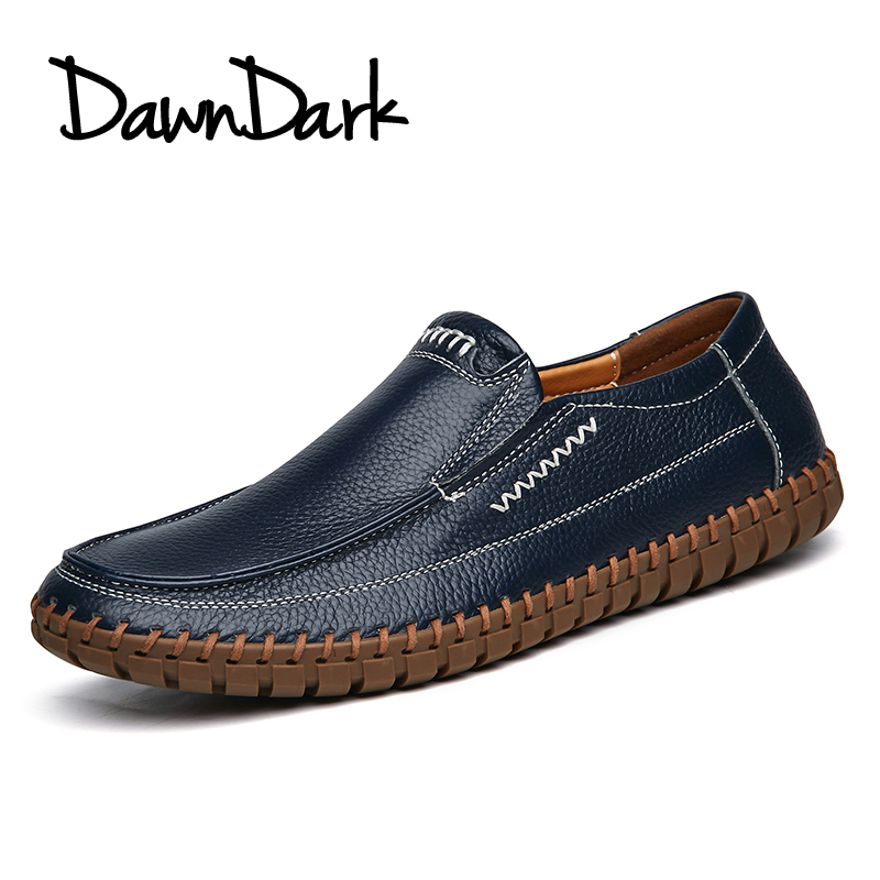Men Casual Shoes Genuine Leather Male Soft Leather Flat Loafers - Men's Shoes - Photo 3