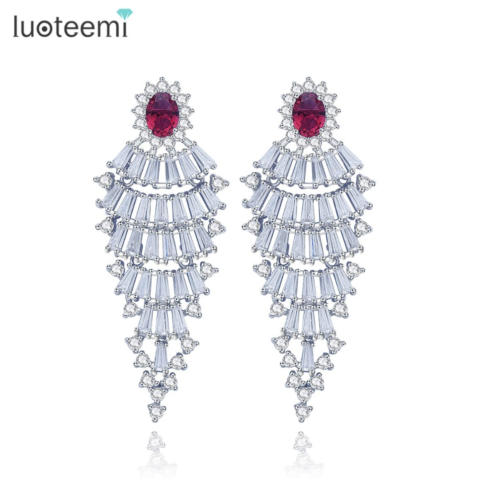 LUOTEEMI New font b Trendy b font Jewelry Fashion Russia Design 2 Colors Big Ethnic Stud