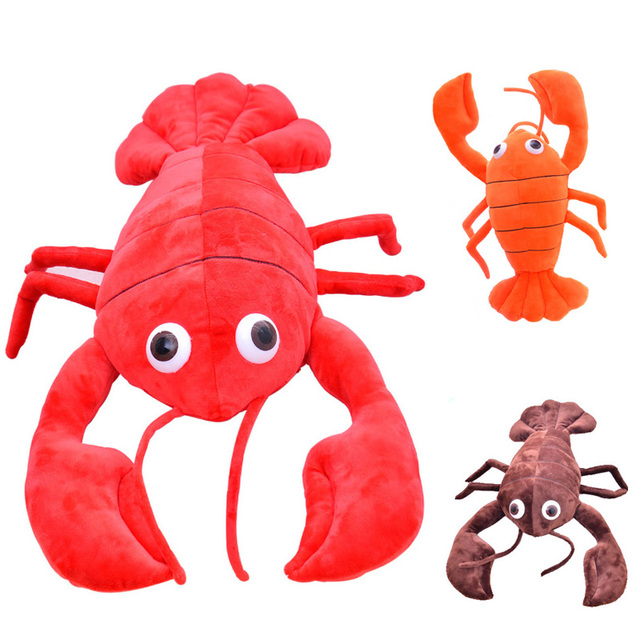 soft creative Baby toys to adult toys stuffed plush cartoon animal shrimp kawaii cute todder Kid children doll gift