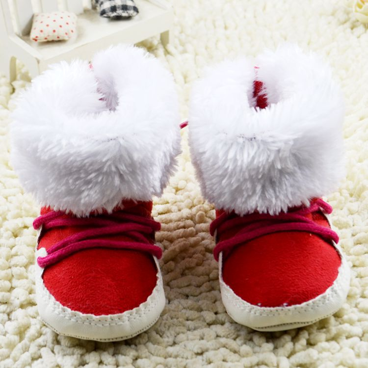Free Shipping 1pair FASHION First walkers Shoes Snow Boots Winter warm Childrens boot , Boy/Girl Kids Shoes