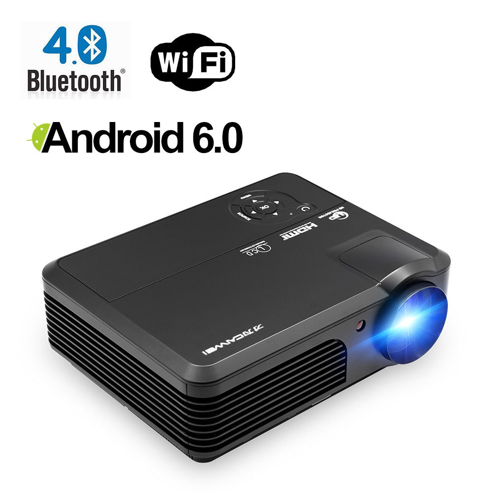 все цены на CAIWEI Android Wifi Smart LED Projector Bluetooth Digital Beamer For Home Theater Full HD 1080P Support Online Video USB HDMI онлайн