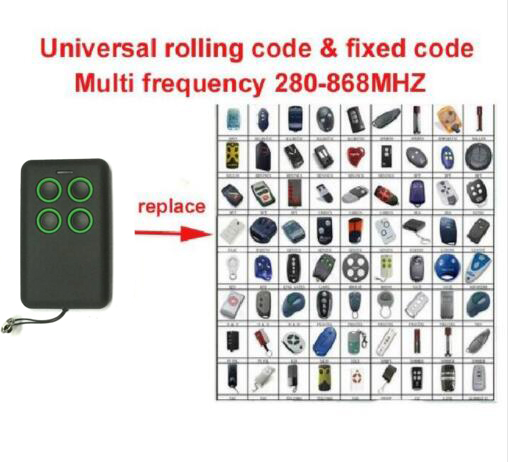 Universal remote cloning rolling code BFT FAAC DOORHAN NICE beninca Liftmaster 94335E novoferm compatible remote free shipping