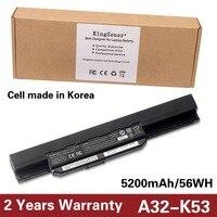 5200mAh Korea Cell Original Quality New Laptop Battery For ASUS A43E A43S A53S A54 X44L X43E