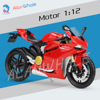 1:12 Scale New Metal Diecast Model Motorcycle Ducati 1199 Panigale Alloy Rubber Motorbike Racing Cars Toys Vehicle Collection
