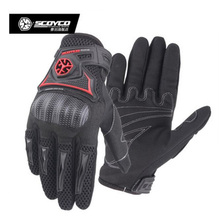 2018 New Scoyco motorcycle shield gloves riding outdoor Knight locomotive glove for spring and summer and breathable MC23