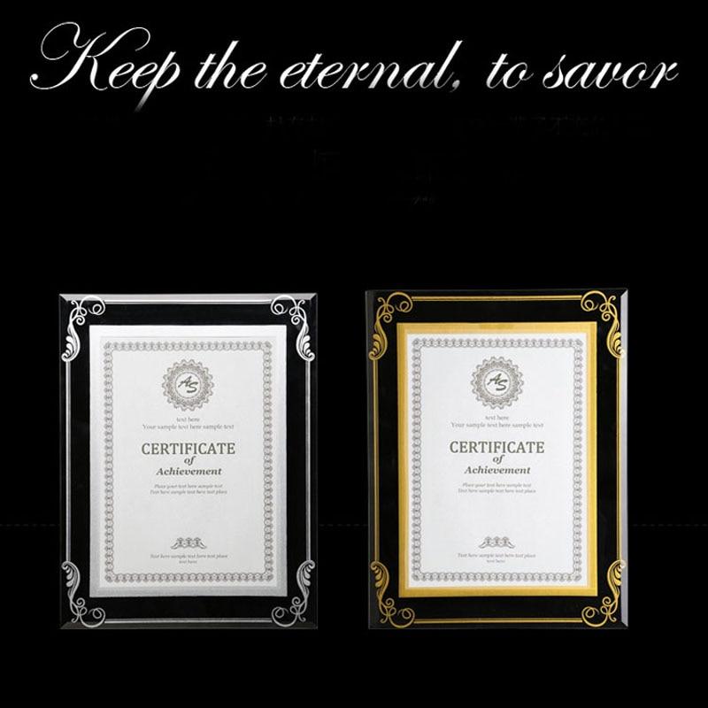 2 Units/pack) Crystal Glass Document Frame, Certification Frame ...