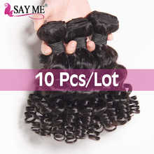 Wholesale 10 Bundles Bouncy Curly Weave Funmi Human Hair Bundles Brazilian Hair Weave Bundles Short Bob Remy Hair Extensions - DISCOUNT ITEM  40% OFF All Category