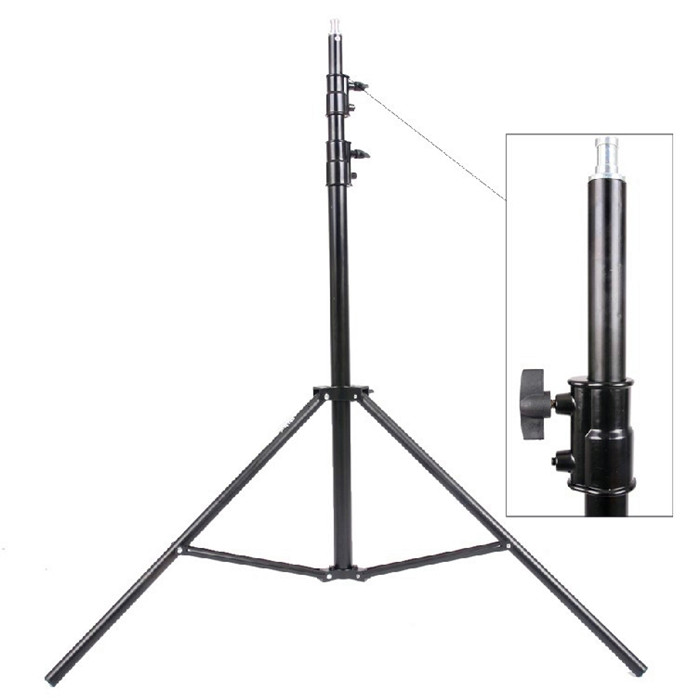 Max entension 280 cm LED éclairage stand trépied Ajustable Photo Studio Accessoires Pour Softbox Photo Vidéo Éclairage Lampes Flashgun
