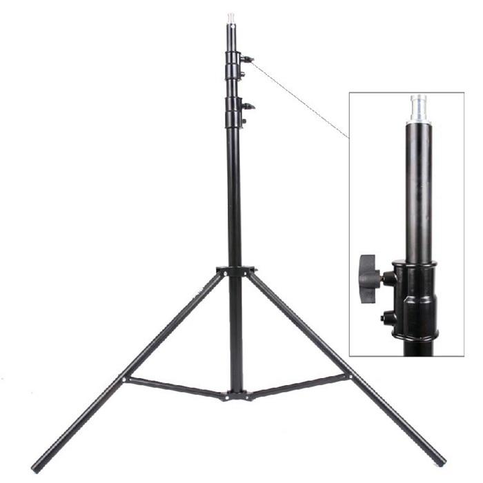 Max entension 280 cm led-beleuchtung ständer stativ Ajustable Fotostudio Zubehör Für Softbox Foto Video Beleuchtung Blitzgerät Lampen