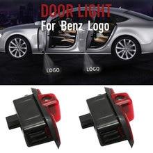 цена на 2x LED Door Step Courtesy Ghost Shadow Laser Light Fit For Mercedes C-Class W204 08-14 C180 C200 C250 C300 C350