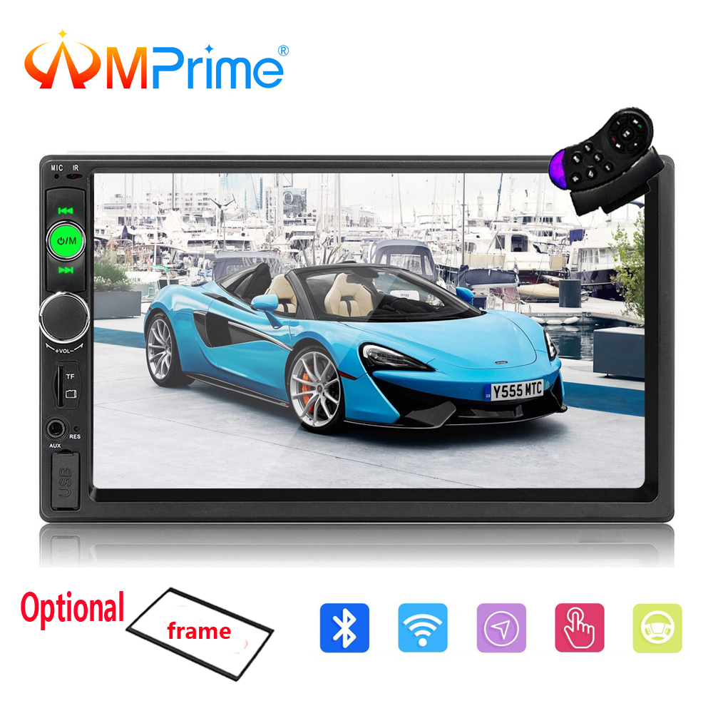 AMPrime Autoradio 2 Din Car Multimedia 7 Touch Car Radio Audio Stereo Mirrorlink 2din Auto MP5 Player Bluetooth/USB/FM Camera