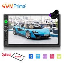 """AMPrime Autoradio 2 Din Car Multimedia 7 """"Touch Car Audio Radio Stereo Mirrorlink Lettore 2din Auto MP5 Bluetooth/ USB/FM Della Macchina Fotografica"""