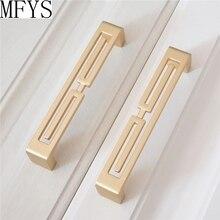 3.75 5 Modern Brass Door Handles Drawer Pulls Knobs Kitchen Cabinet Hardware Dresser Knob Pull Cupboard Handle Decor