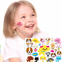 Small Puppy Dogs Child Temporary Tattoo Body Art Flash Tattoo Stickers 17*10cm Waterproof Henna Tatoo Car Styling Wall Sticker