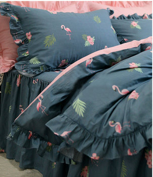 Pastoral flower bird bedding set girl,twin full queen king cotton single double home textile bedspread pillow case quilt cover
