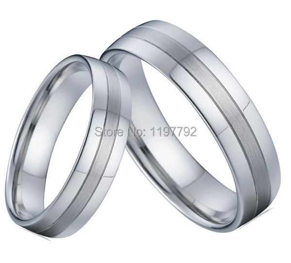 2 Pieces Ual Wedding Band Rings Eco Healthy Anium Jewelry An Promise Engagement