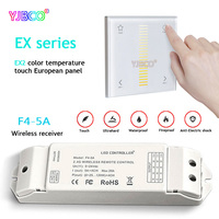EX2 LED Color temperature touch panel Dimmer 2.4GHz DMX512 control for led strip lamp Wireless receiver F4 5A AC100V~240V