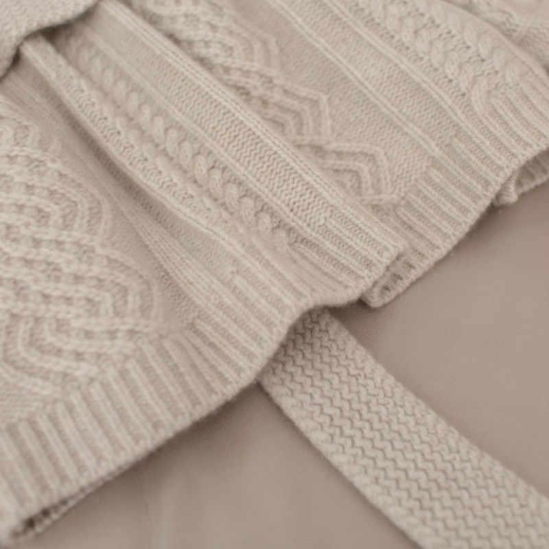 Las mujeres suéter cardigan engrosamiento primavera nueva flojo señoras chaqueta mujer suéter de Cachemira de asual Plus tamaño abrigo 2019
