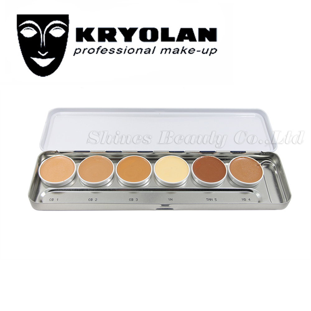KRYOLAN ULTRA FOUNDATION PALETTE 6 COLORS High Coverage Corrective makeup Foundation Transparent application of Ultra Foundation