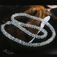 Настоящий натуральный голубой свет лунный камень лабрадорит драгоценные камни Кристаллы лицом бусина для счет Чокеры ожерелье 6 мм