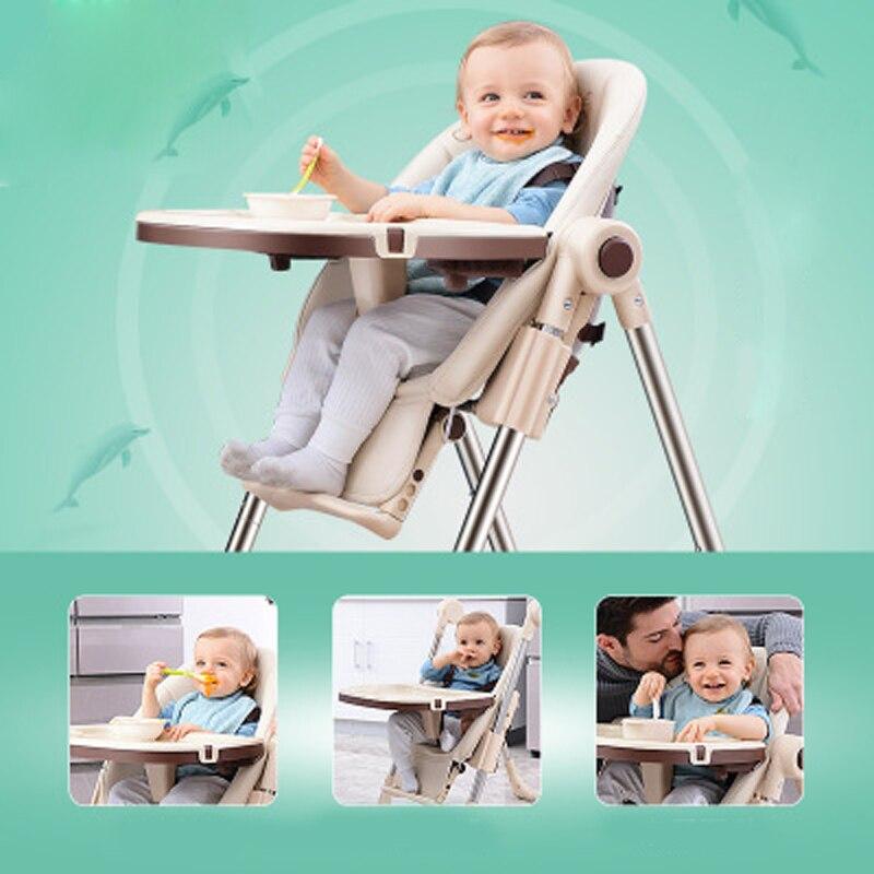 Alimentation chaise haute à manger chaise enfants à manger chaise pliable multifonctionnel Portable bébé chaises hautes bébé siège