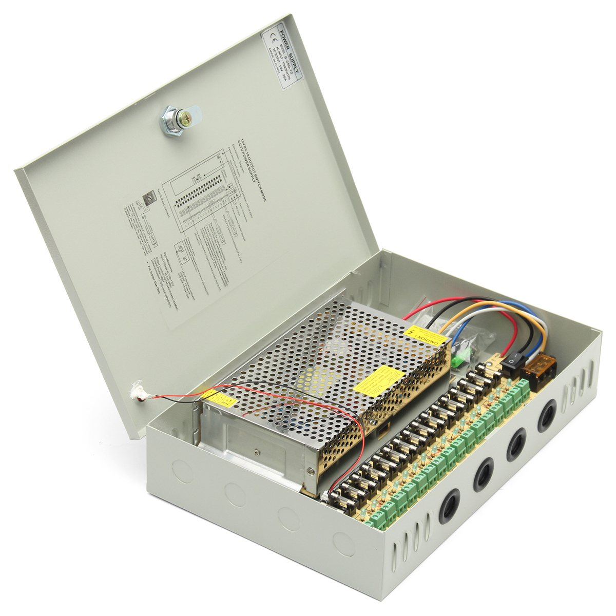 NEW Safurance 18 Channel 12V DC CCTV Security Cameras System Power Supply Distribution Switch Box Home Security Safety