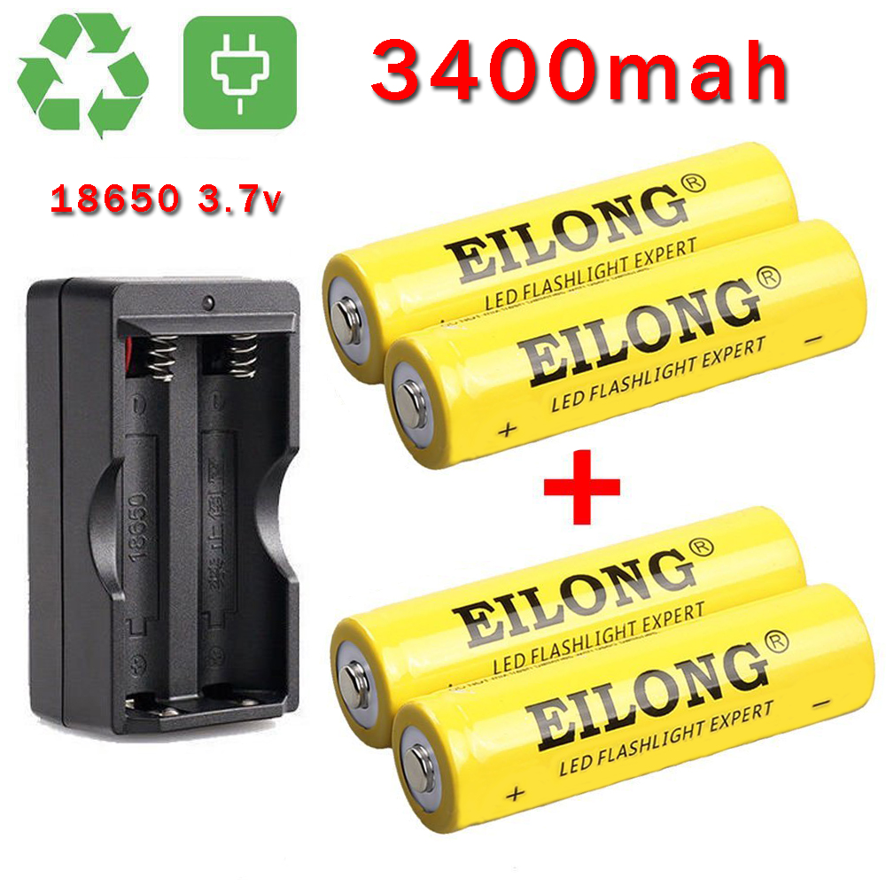 Eilong 18650 Battery 4 Pack High Performance Lithium Ion Battery - Ei Electronics Ei 650