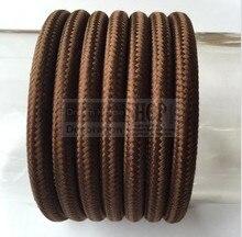 10 meters/set коричневый цвет Винтаж витая Круглый кабель Электрический Провода ТЕКСТИЛЬНЫЙ ШНУР лампы подвесные светильники кабель ткань