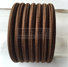 10meters/set Brown color Vintage Twisted round cable electric Wire Textile Lamp Cord Pendant lighting cable fabric